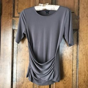 Ann Taylor Pullover Blouse with Ruching P-Small